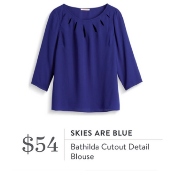 Skies are Blue Cutout Blouse Top Shirt